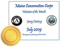 Maine Conservation Corps Award