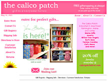 The Calico Patch Website